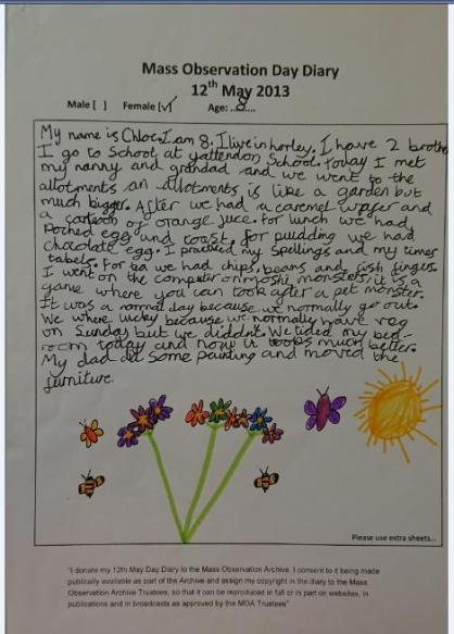 diary with drawing_8yr-old